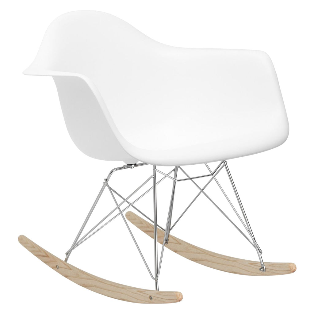 Rocker Lounge Chair In White Rocking