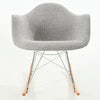 Padded Light Grey Rocker Rocking Chair