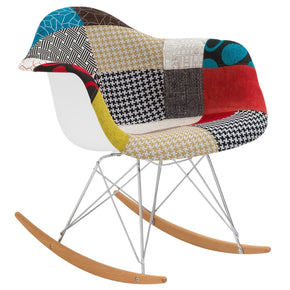 Padded Patchwork Rocker Rocking Chair