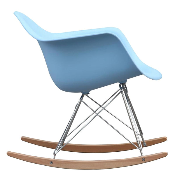 Amazing Rocker Arm Chair Light Blue Caraccident5 Cool Chair Designs And Ideas Caraccident5Info