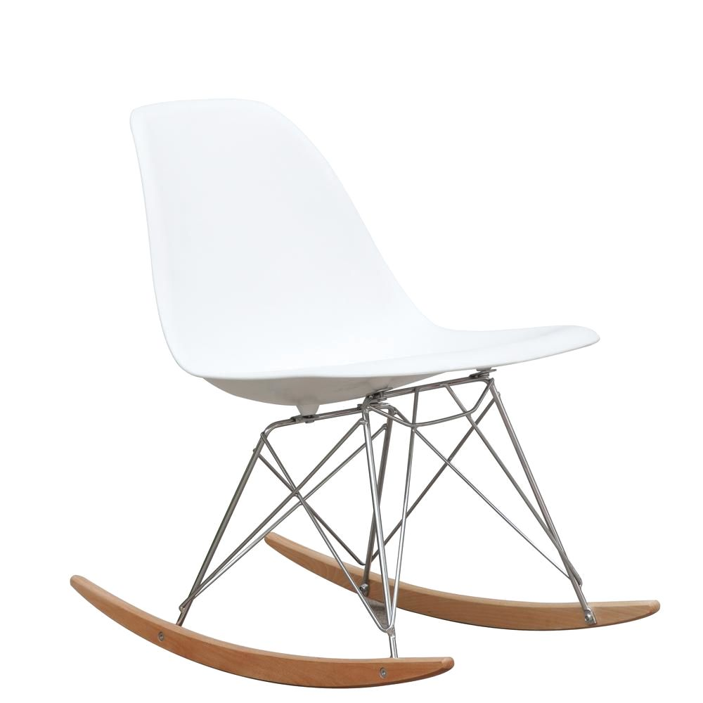 Fine Mod Imports Rocker Side Chair White At Contemporary Furniture