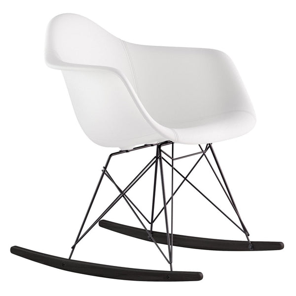 ... Mid Century Rocker Chair Milano White Rocking ...