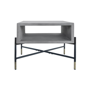 Vig Furniture VGLBROKY-LT50 Modrest Walker Modern Concrete & Metal End Table