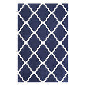 Marja Moroccan Trellis 5X8 Area Rug Navy And Ivory
