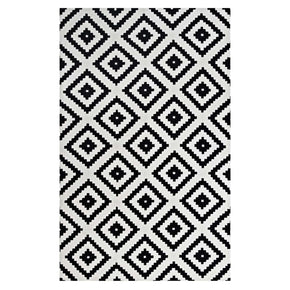 Alika Abstract Diamond Trellis 8X10 Area Rug Black And White