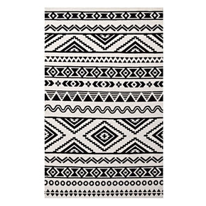 Haku Geometric Moroccan Tribal 8X10 Area Rug Black And White
