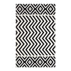 Ailani Geometric Chevron / Diamond 5X8 Area Rug Black And White