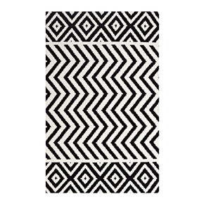 Ailani Geometric Chevron / Diamond 8X10 Area Rug Black And White