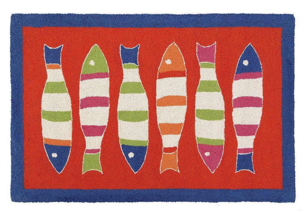 Picket Fish Orange Hr 27X40 Rug