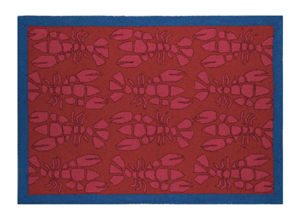 Pink Lobster Hook Rug 34X47