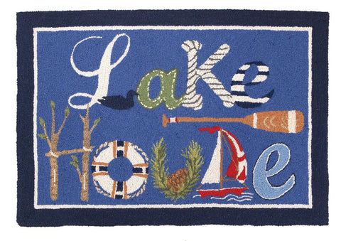 Lake House Hook Rug 27X40