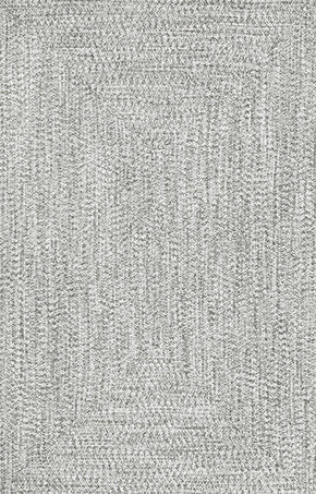 Nuloom Braided Lefebvre Salt And Pepper Rug