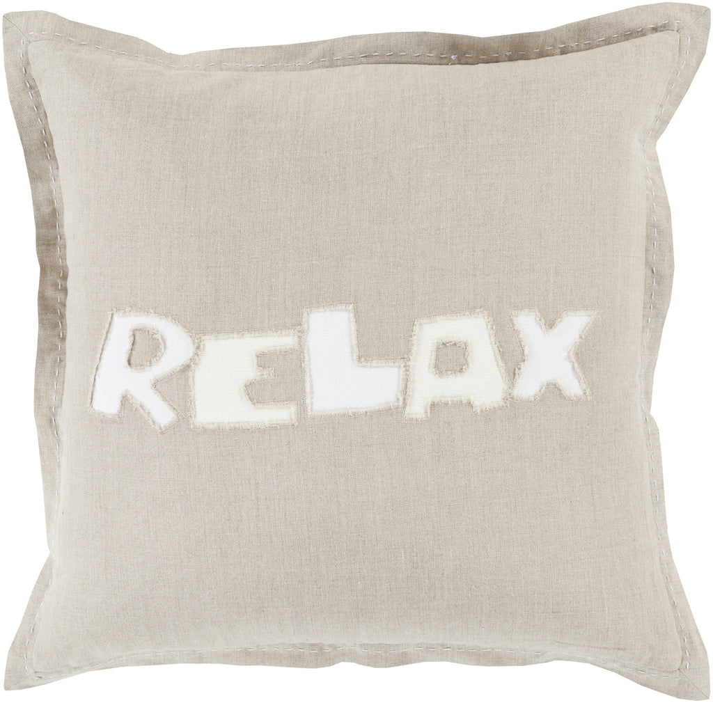 Throw Pillows - Surya RX002-1818D Surya Relax Throw Pillow Neutral, Neutral | 888473093220 | Only $73.80. Buy today at http://www.contemporaryfurniturewarehouse.com