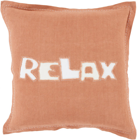 Throw Pillows - Surya RX003-1818D Surya Relax Throw Pillow Orange, Neutral | 888473093312 | Only $73.80. Buy today at http://www.contemporaryfurniturewarehouse.com