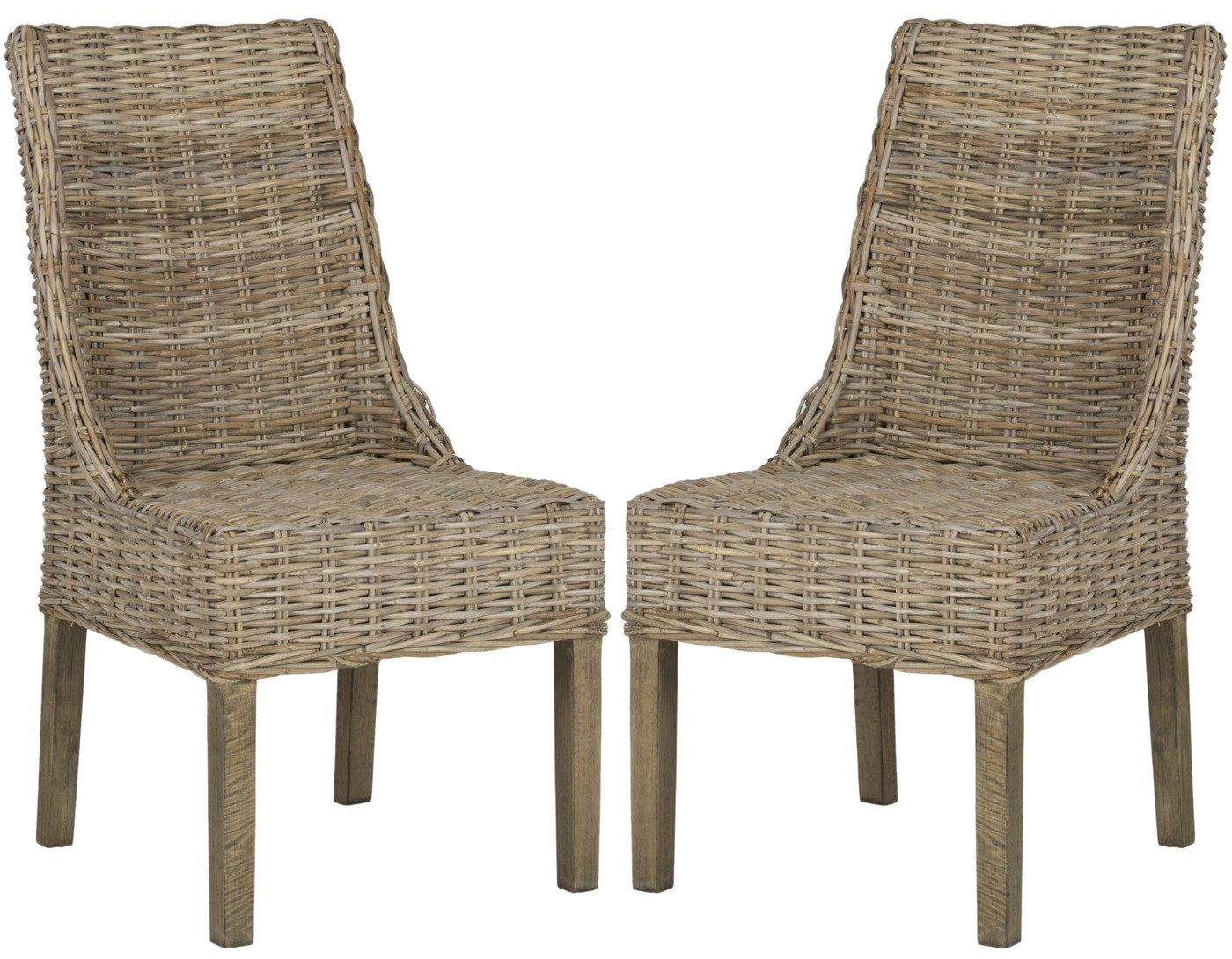 Suncoast Rattan Arm Chair (Set Of 2) Natural Unfinished Outdoor Dining ...