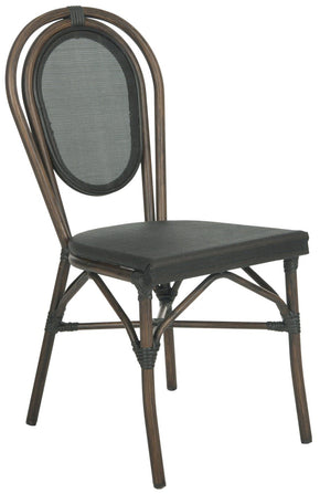 Thonet Style Bistro Side Chair Black (Set Of 2) Outdoor Dining