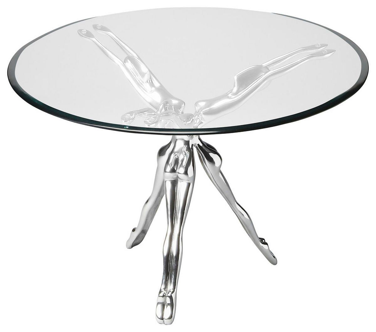 Buy Butler Furniture But 2599025 Blissful Modern Round Accent Table Silver At Contemporary Furniture Warehouse