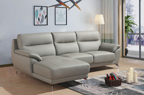 Vig Furniture VGBNSBL-1715-LAF-GRY Divani Casa Fortson Modern Grey Eco-Leather Sectional Sofa w/ Left Facing Chaise