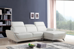 Divani Casa Sterling Modern White Eco Leather Sectional Sofa
