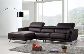 Vig Furniture VGBNSBL-9214-BLK Divani Casa Doss Modern Black Eco-Leather Sectional Sofa