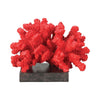 Fire Island Coral Display Statue Red & Black Sculpture