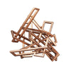 Tangled Rectangles Sculpture Gold Large Metal