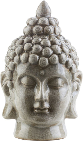Buddha Modern Light Gray Sculpture