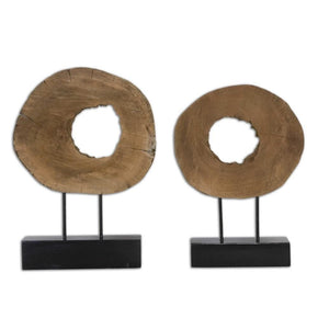 Ashlea Wooden Sculptures S/2 Sculpture