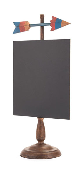 Arrow Chalkboard Black Sculpture