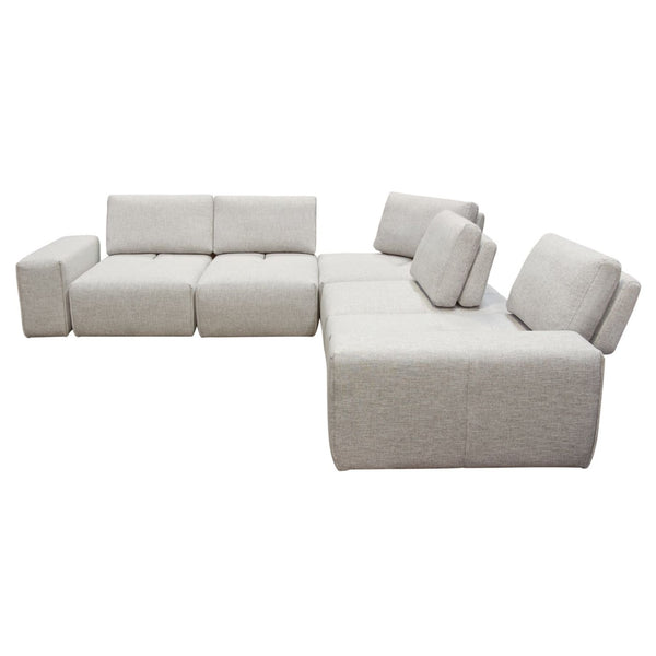 Buy Diamond Sofa JAZZ4AC1SC2ARLB Jazz Modular 5-Seater ...