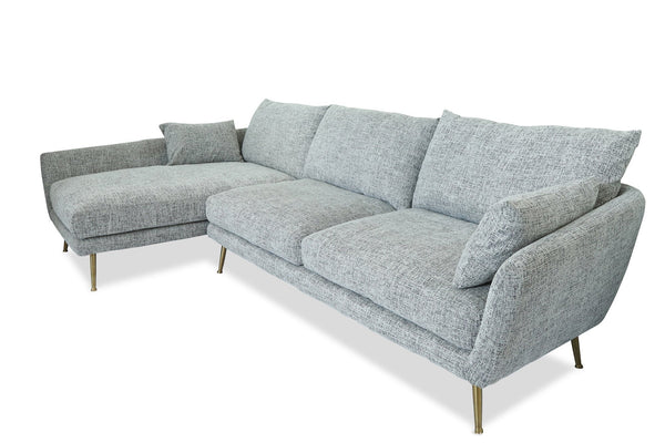 Buy Edloe Finch EF-ZX-SC002L Harlow Mid-century Modern Sectional Sofa  Fulton Grey - Left Facing at Contemporary Furniture Warehouse