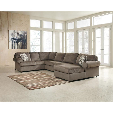 Signature Design By Ashley Jessa Place Sectional In Dune Fabric Sand Sofa
