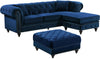 Sectional Sofas - Meridian 667Navy-Sectional Sabrina Deep Tufted Navy Velvet Reversible Sectional Sofa | 647899946714 | Only $1359.80. Buy today at http://www.contemporaryfurniturewarehouse.com
