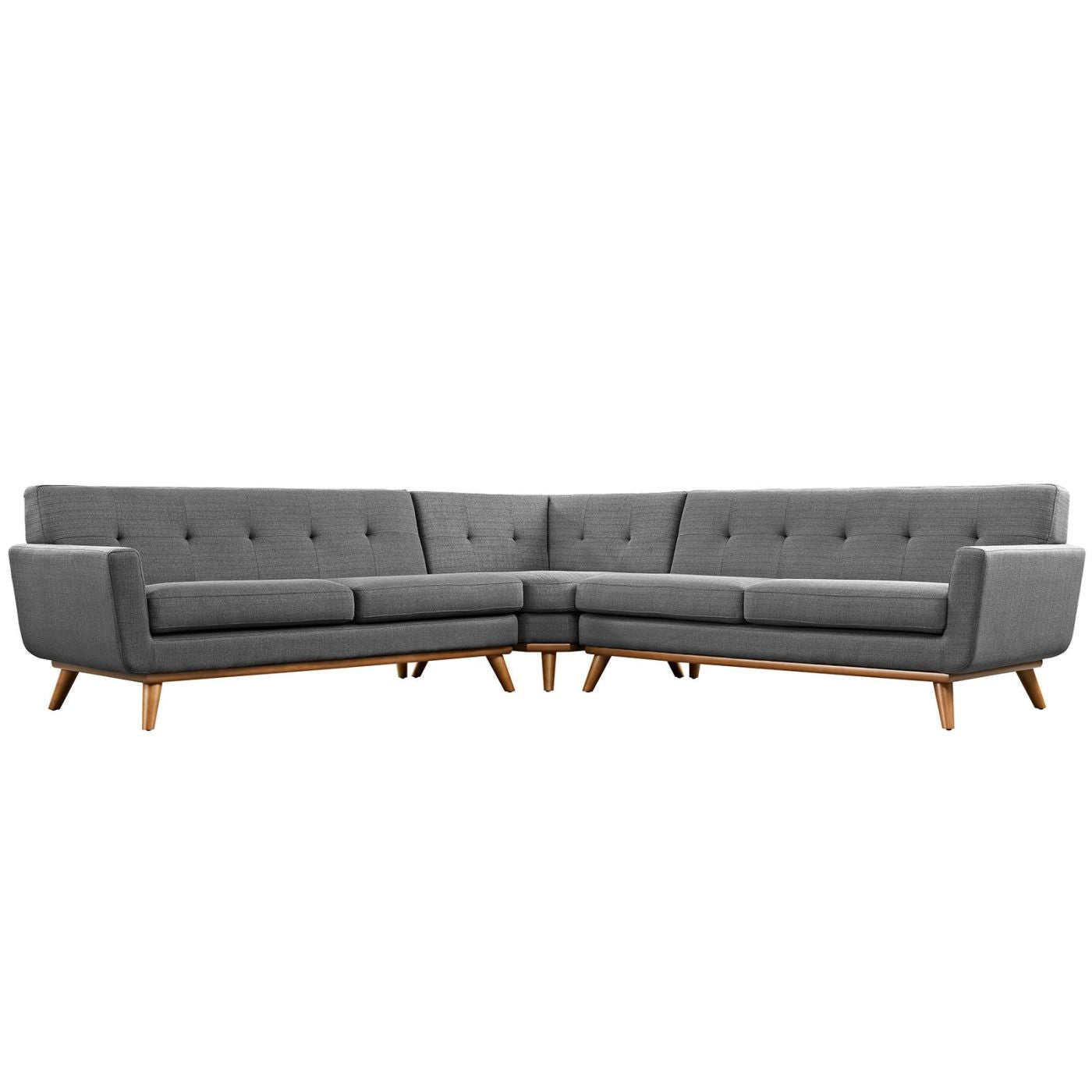 Buy Modway EEI-2108-DOR-SET Engage Mid Century Modern L-Shaped Sectional  Sofa at Contemporary Furniture Warehouse
