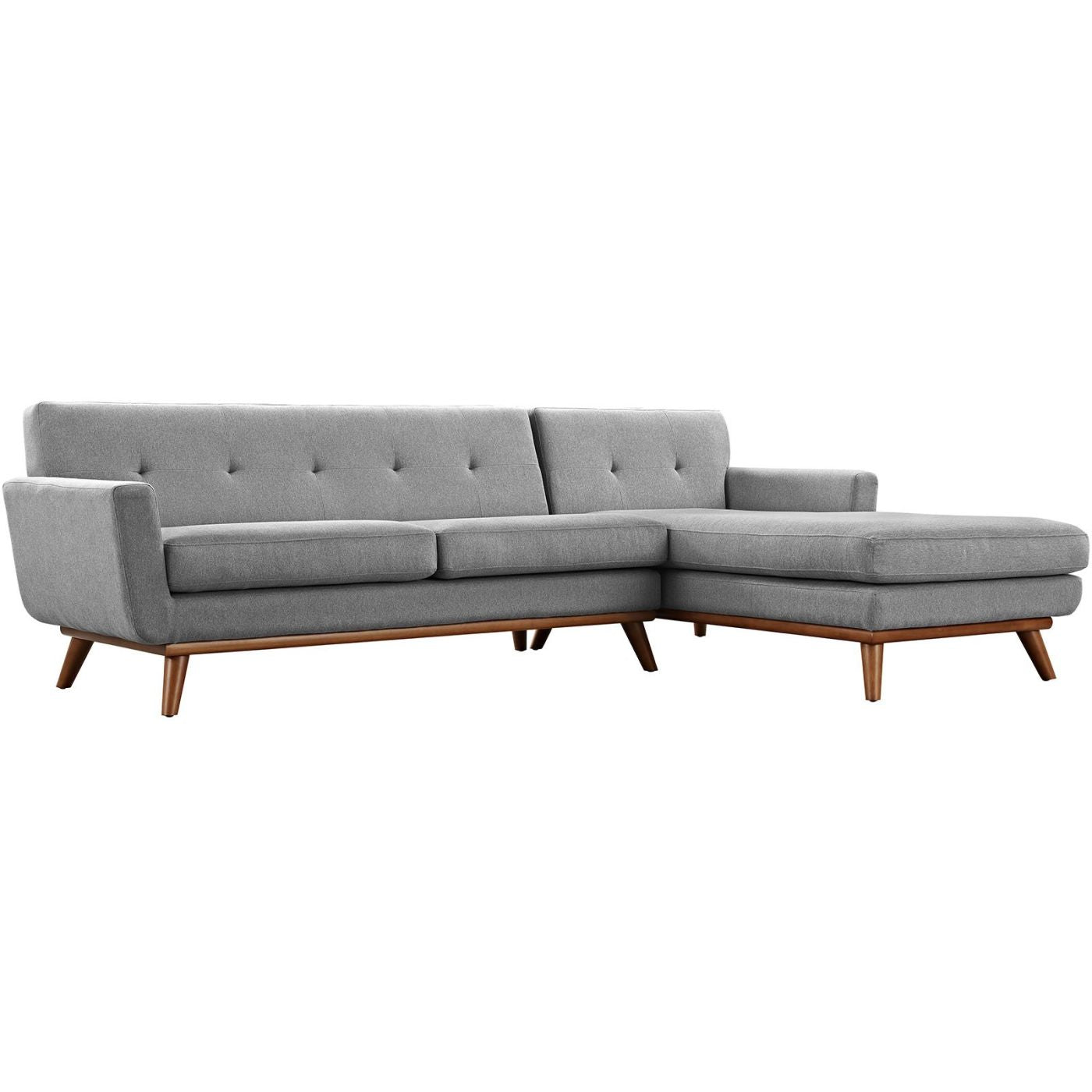 Modway Sectional Sofas on sale. EEI-2119-GRY-SET Engage Mid Century Modern  Right-Facing Sectional Sofa only Only $1,460.05 at Contemporary Furniture  ...
