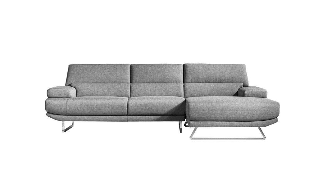 Jenn Contemporary Sectional Dark Grey Right