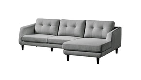 Corey Sectional Dark Grey Right Sofa