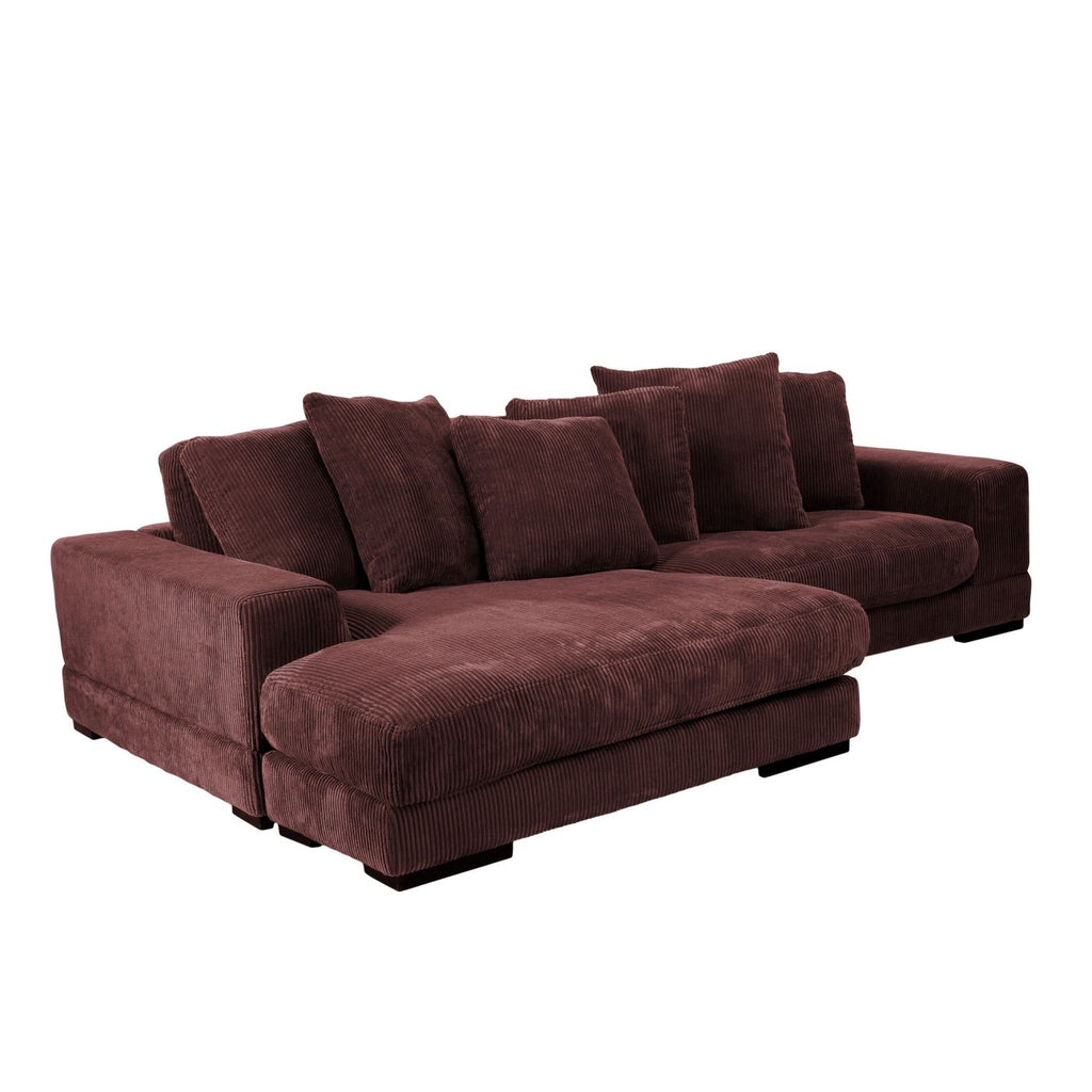 Plunge Sectional Dark Brown (Left And Right Side Facing) Sofa