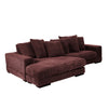 Plunge Sectional Dark Brown (left and right side facing)