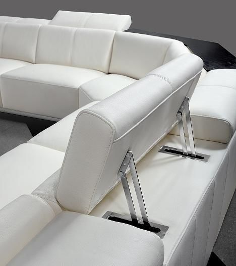 Vig Furniture VG2T0730-WHT Divani Casa Tempo - Contemporary White Leather  Sectional Sofa sale at Contemporary Furniture Warehouse. Today only.