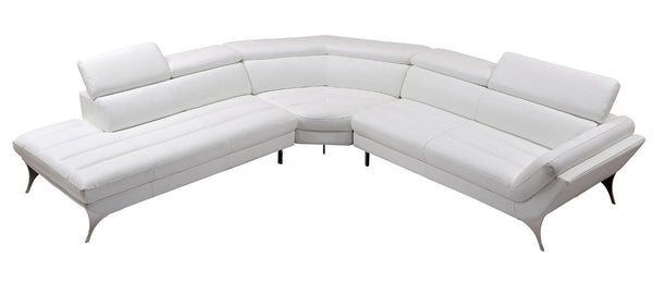 Vig Furniture VGCA1541-WHT Divani Casa Graphite Modern White Leather  Sectional Sofa sale at Contemporary Furniture Warehouse. Today only.