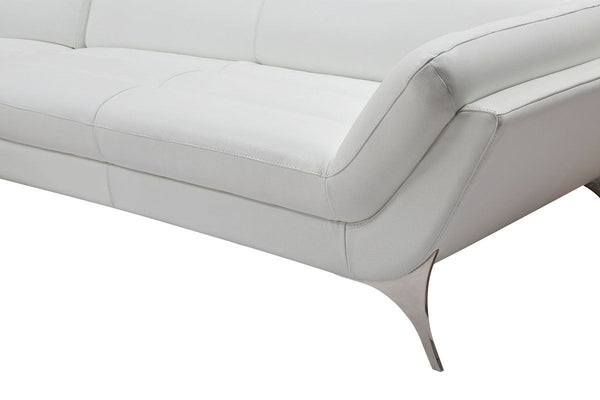 Awesome Vig Furniture Vgca1541 Wht Divani Casa Graphite Modern White Leather Sectional Sofa Sale At Contemporary Furniture Warehouse Today Only Ocoug Best Dining Table And Chair Ideas Images Ocougorg