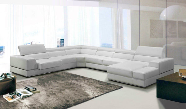 Vig Furniture VGCA5106-WHT Divani Casa Modern White Italian Leather  Sectional Sofa sale at Contemporary Furniture Warehouse. Today only.
