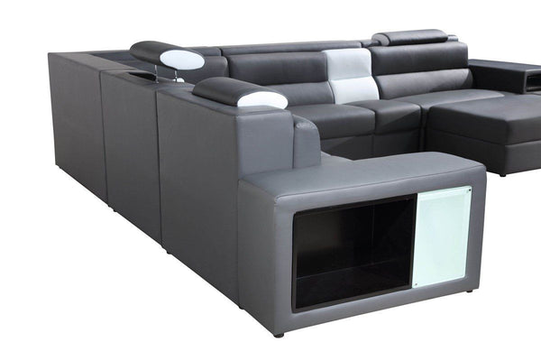 Vig Furniture VGEV5022-GR-BL Divani Casa Polaris Contemporary Gray ...
