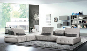 David Ferrari Daiquiri Italian Modern Light Grey & Dark Fabric Modular Sectional Sofa