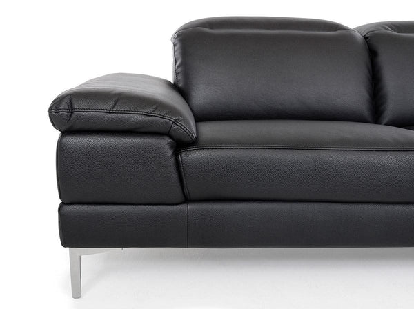 Vig Furniture VGKK1872-BLK Divani Casa Carnation - Modern Black Eco-Leather  Sectional Sofa sale at Contemporary Furniture Warehouse. Today only.