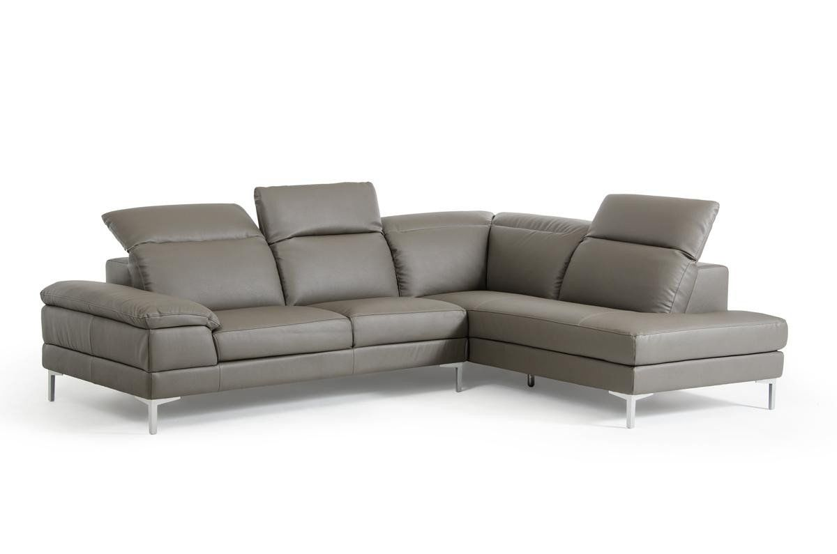 Divani Casa Carnation Modern Grey Eco-Leather Sectional Sofa by Vig ...