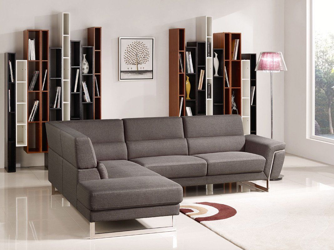 Vig Furniture VGMB-1612 Navarro Modern Brown Fabric Sectional Sofa sale at  Contemporary Furniture Warehouse. Today only.