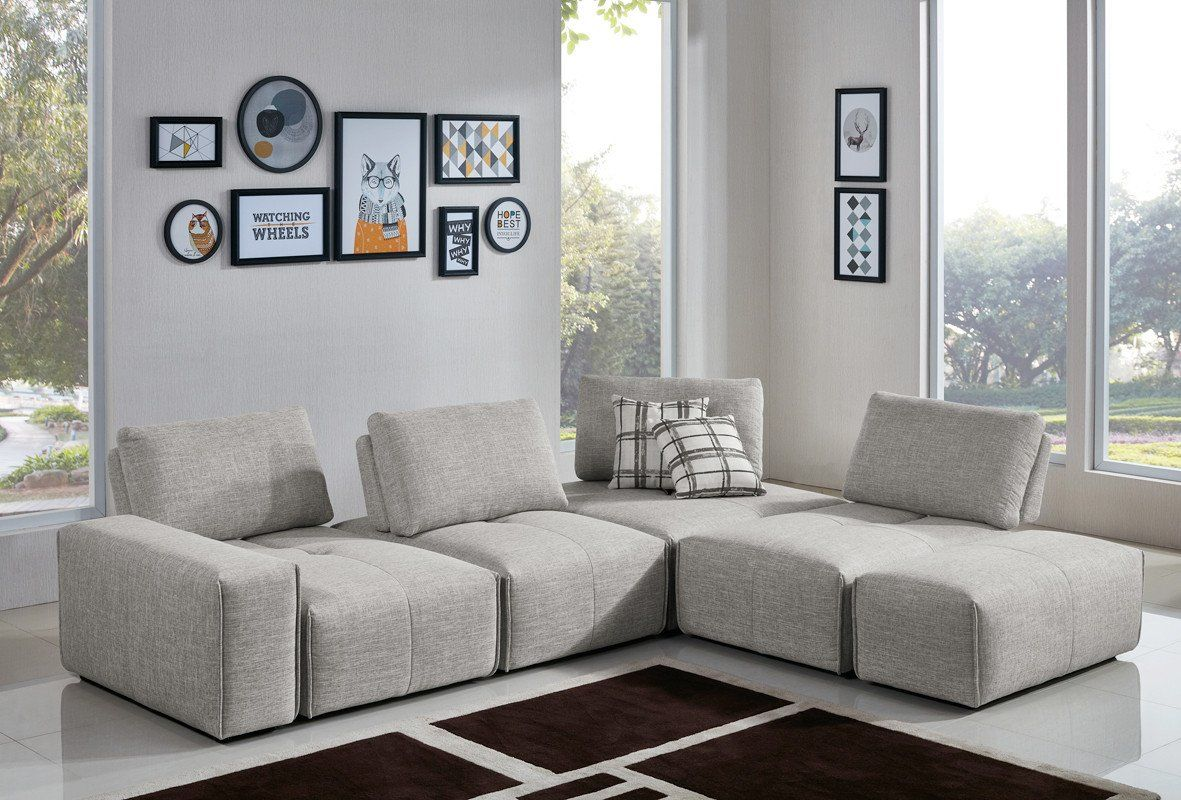 Vig Furniture VGMB-1675-GRY Divani Casa Platte Modern Grey Fabric Modular  Sectional Sofa sale at Contemporary Furniture Warehouse. Today only.