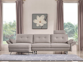Divani Casa Payne Modern Grey Fabric Sectional Sofa